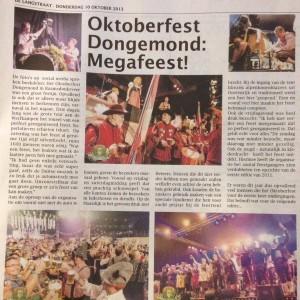 DeLangstraat - 10 oktober 2013 - Oktoberfest Dongemond Megafeest